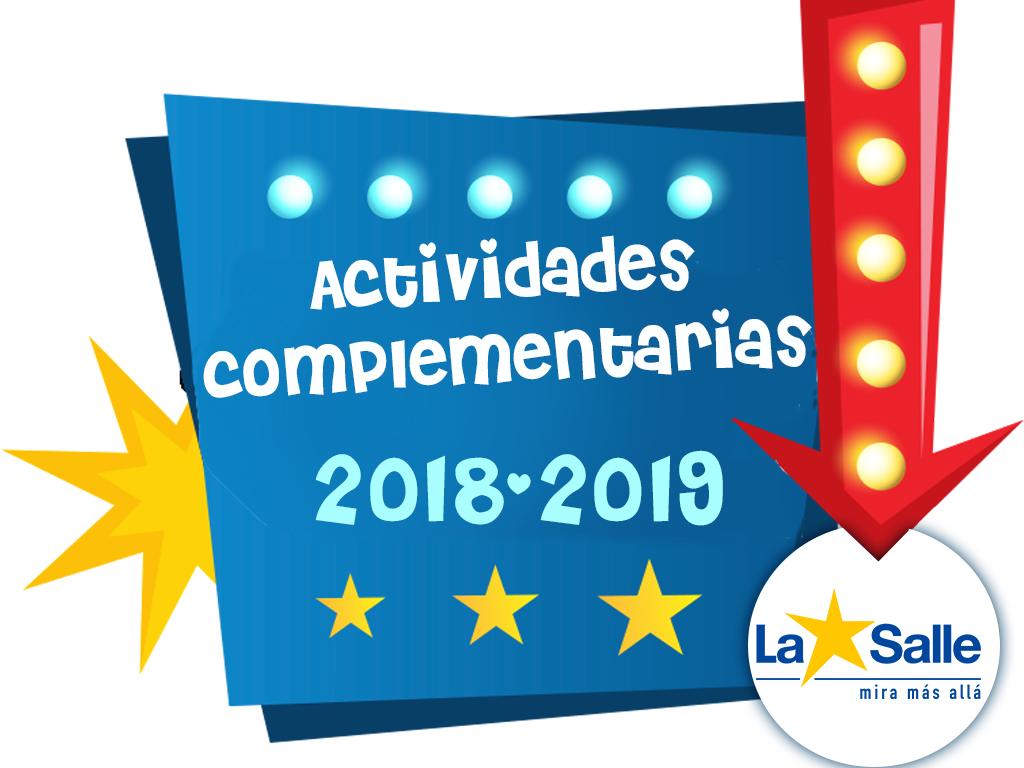 Actividades complementarias curso 2018-2019
