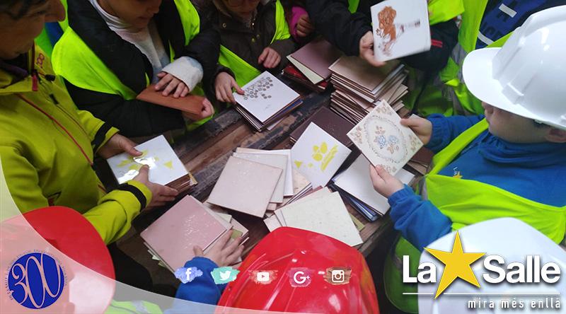 Los alumnos de La Salle visitan la Reial Fàbrica